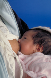 photo of nursing newborn